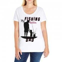 fishing dad Ladies Curvy T-Shirt | Artistshot