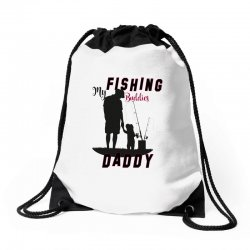 fishing daddy Drawstring Bags | Artistshot