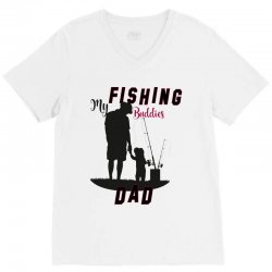fishing dad V-Neck Tee | Artistshot