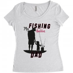 fishing dad Women's Triblend Scoop T-shirt | Artistshot
