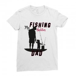 fishing dad Ladies Fitted T-Shirt | Artistshot