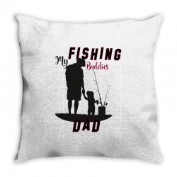fishing dad Throw Pillow | Artistshot