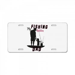 fishing dad License Plate | Artistshot