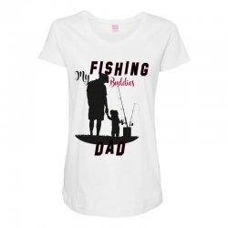 fishing dad Maternity Scoop Neck T-shirt | Artistshot