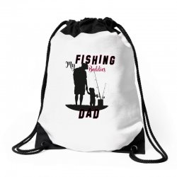 fishing dad Drawstring Bags | Artistshot