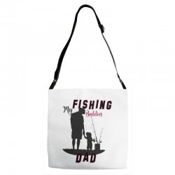 fishing dad Adjustable Strap Totes | Artistshot