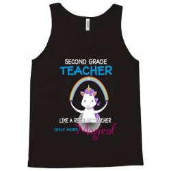 2nd second grade teacher cute magical unicorn Tank Top | Artistshot