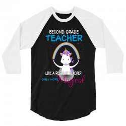 2nd second grade teacher cute magical unicorn 3/4 Sleeve Shirt | Artistshot