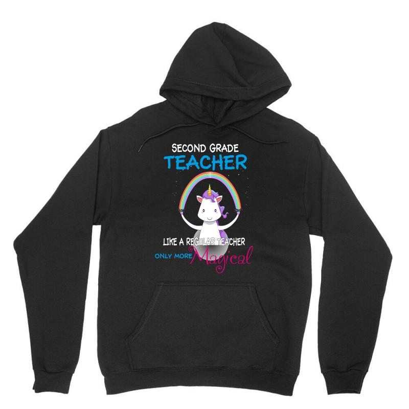 2nd Second Grade Teacher Cute Magical Unicorn Unisex Hoodie | Artistshot