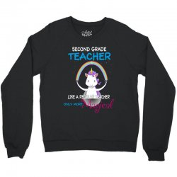 2nd second grade teacher cute magical unicorn Crewneck Sweatshirt | Artistshot