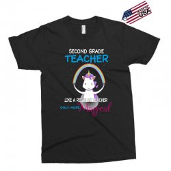 2nd second grade teacher cute magical unicorn Exclusive T-shirt | Artistshot