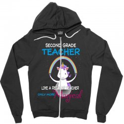 2nd second grade teacher cute magical unicorn Zipper Hoodie | Artistshot