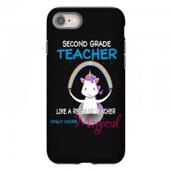 2nd second grade teacher cute magical unicorn iPhone 8 Case | Artistshot