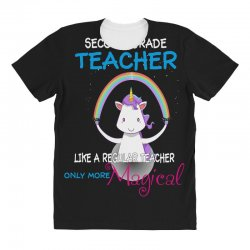 2nd second grade teacher cute magical unicorn All Over Women's T-shirt | Artistshot