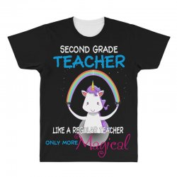 2nd second grade teacher cute magical unicorn All Over Men's T-shirt | Artistshot