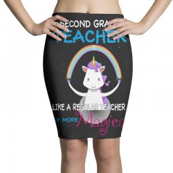 2nd second grade teacher cute magical unicorn Pencil Skirts | Artistshot