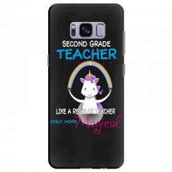 2nd second grade teacher cute magical unicorn Samsung Galaxy S8 Plus Case | Artistshot