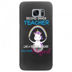 2nd second grade teacher cute magical unicorn Samsung Galaxy S7 Edge Case | Artistshot