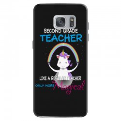 2nd second grade teacher cute magical unicorn Samsung Galaxy S7 Case | Artistshot