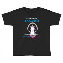 2nd second grade teacher cute magical unicorn Toddler T-shirt | Artistshot