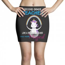 2nd second grade teacher cute magical unicorn Mini Skirts | Artistshot