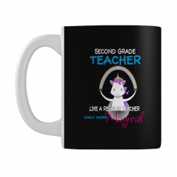 2nd second grade teacher cute magical unicorn Mug | Artistshot