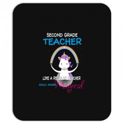 2nd second grade teacher cute magical unicorn Mousepad | Artistshot