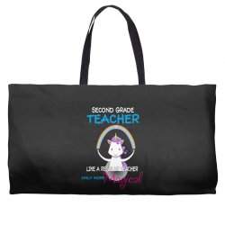 2nd second grade teacher cute magical unicorn Weekender Totes | Artistshot