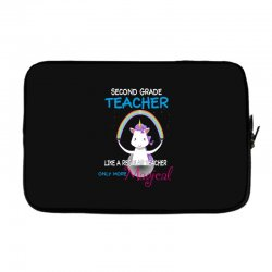 2nd second grade teacher cute magical unicorn Laptop sleeve | Artistshot