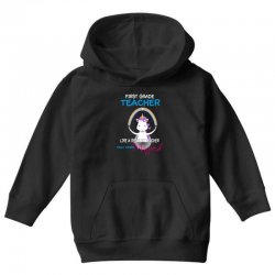1st first grade teacher cute magical unicorn Youth Hoodie | Artistshot