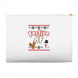festive af ugly christmas sweater Accessory Pouches | Artistshot