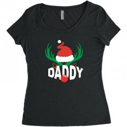 daddy deer Women's Triblend Scoop T-shirt | Artistshot