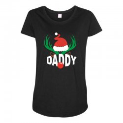 daddy deer Maternity Scoop Neck T-shirt | Artistshot