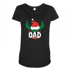dad deer Maternity Scoop Neck T-shirt | Artistshot