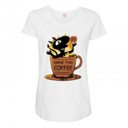 coffee. do it! Maternity Scoop Neck T-shirt | Artistshot