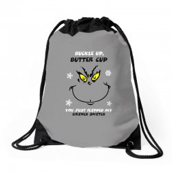 buckle up buttercup Drawstring Bags | Artistshot