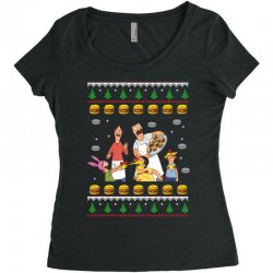 bob's burgers family ugly Women's Triblend Scoop T-shirt | Artistshot
