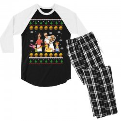 bob's burgers family ugly Men's 3/4 Sleeve Pajama Set | Artistshot