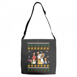 bob's burgers family ugly Adjustable Strap Totes | Artistshot