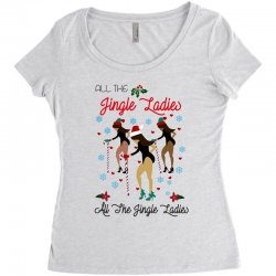 all the jingle ladies christmas all the jingle ladies Women's Triblend Scoop T-shirt | Artistshot