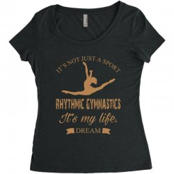 Rhythmic gymnastics - Motivational Women's Triblend Scoop T-shirt | Artistshot