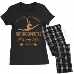 Rhythmic gymnastics - Motivational Women's Pajamas Set | Artistshot