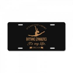Rhythmic gymnastics - Motivational License Plate | Artistshot
