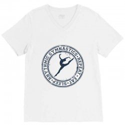 Eat, sleep, Rhythmic gymnastics, Repeat III V-Neck Tee | Artistshot