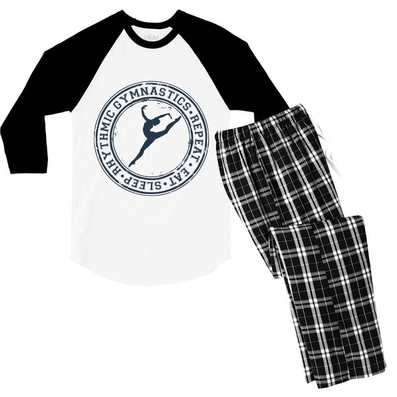 Eat, Sleep, Rhythmic Gymnastics, Repeat Iii Men's 3/4 Sleeve Pajama Set | Artistshot