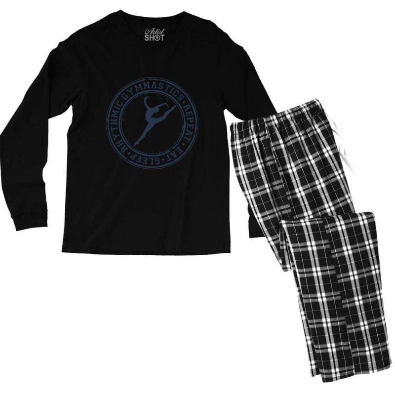 Eat, Sleep, Rhythmic Gymnastics, Repeat Iii Men's Long Sleeve Pajama Set | Artistshot