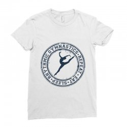 Eat, sleep, Rhythmic gymnastics, Repeat III Ladies Fitted T-Shirt | Artistshot