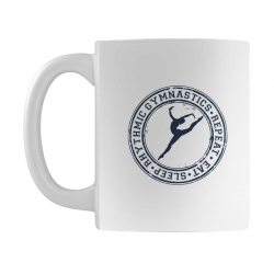 Eat, sleep, Rhythmic gymnastics, Repeat III Mug | Artistshot