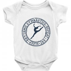 Eat, sleep, Rhythmic gymnastics, Repeat III Baby Bodysuit | Artistshot