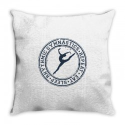Eat, sleep, Rhythmic gymnastics, Repeat III Throw Pillow | Artistshot